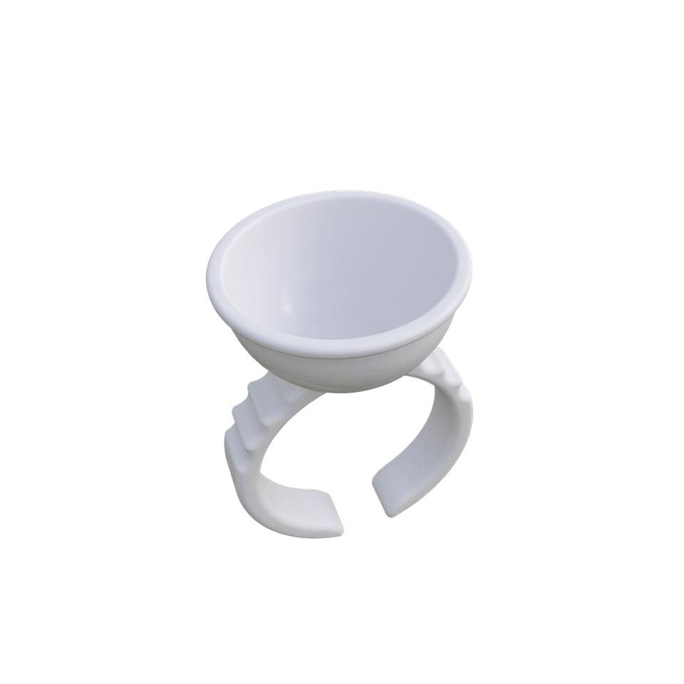 Finger Ring Ink Cup 100 Pcs