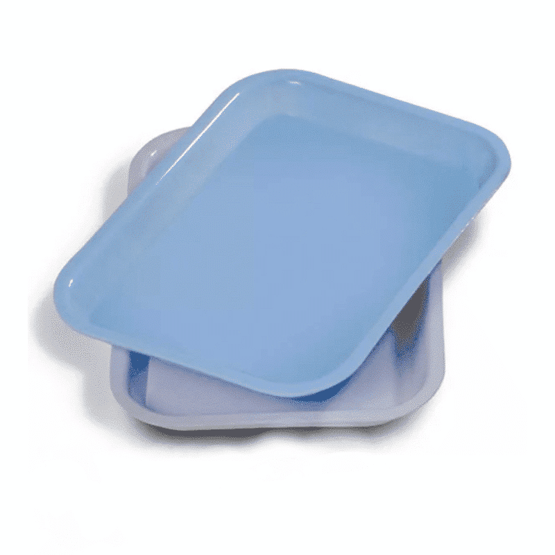 Dental Flat Plastic Instrument Tray 9in