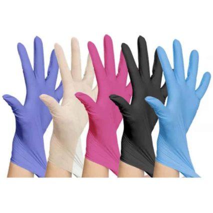 Black/Pink/Blue/Purple Nitrile Latex Free gloves best gloves cheap fast shipping amazon ebay