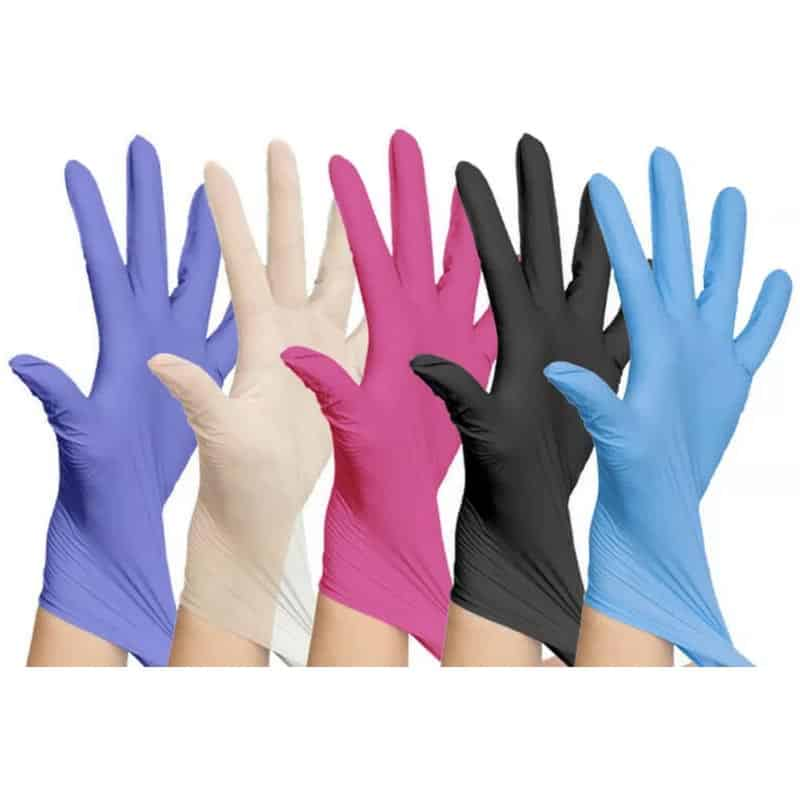 Black/Pink/Blue/Purple Nitrile Latex Free gloves best gloves cheap fast shipping amazon ebay
