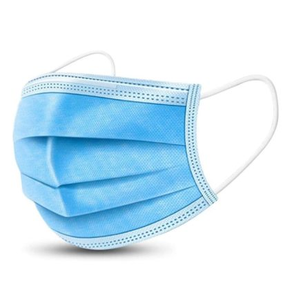Disposable Medical Face Masks White Blue Pink Black 50 Pcs