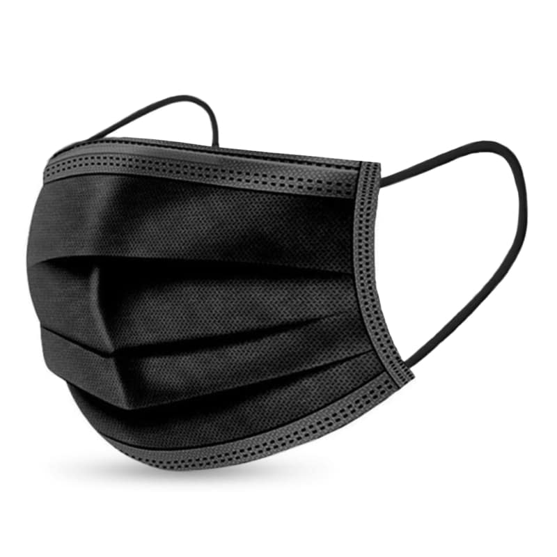 Black 50 Pcs - Individually Wrapped (Box)