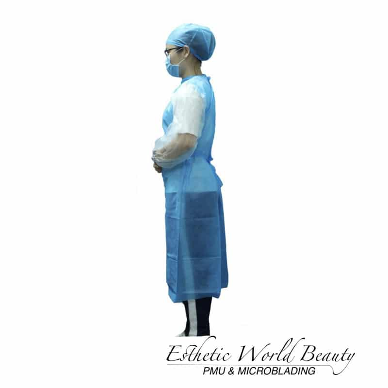 Disposable Waterproof Surgical Isolation Gowns Medical Protective w/ Elastic Band