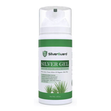 Silver Gel Skin Care Healing Aid & Protectant | Active Colloidal Silver Gel for Skin with Pure Aloe Vera Gel | Structured Silver Gel Wound Care fibroblast plasma pen aftercare after care best cheap price buy online