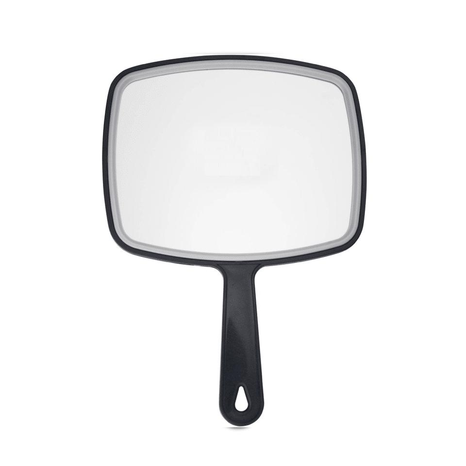 Hand Makeup Salon Hair Mirror, Black Handheld Mirror with Handle